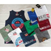 Kit 03 Camiseta Masculina Regata Diversas Marcas Atacado