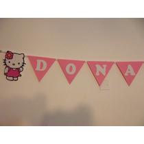 Banderín En Goma Eva De Kitty O Tu Personaje Favorito!