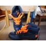 Nike Zapatillas Caña Alta De Cuero Talla 9.5 Nuevas Con Etiq