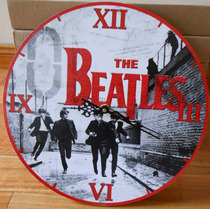 Reloj De Pared De Madera The Beatles Modelo Regalo Original