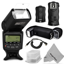 Kit Flash Ttl+disparador+receptor+difusor Para Canon Nikon