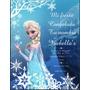 Tarjetas Invitaciones Frozen Infantiles Únicas!! X 12 Unid