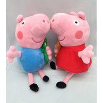 Peppa Pig E George Bonecos De Pelucias Pronta Entrega