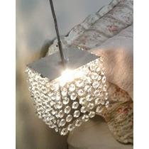 Luminária Pendente Para Sala Estar Jantar Quarto De Cristal