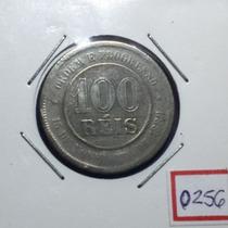 0256 - Moedas Antigas 100 Réis 1893 República - Mbc