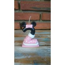 Velita Minnie Mickey En Porcelana Fría- Torta Cumpleaños