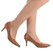 Sapato Scarpin Feminino Lara - Caramelo