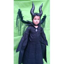 Disfraz Traje Estilo Malefica De Lujo Halloween