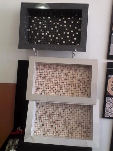 Nicho Porcelanato Banheiro Box Fundo Decorativo  R$ 220,00 em Mercado Livre -> Nicho Para Banheiro Em Acrilico