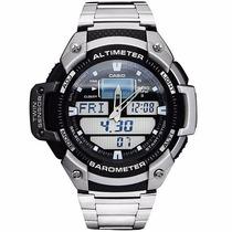 Relógio Casio Outgear Sgw-400-hd Altimetro Barometro Aço Pt