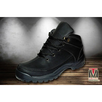 Botas Hombre Timber Strong Color Negro Deportivas Caminata