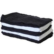 Toalha De Rosto Para Salão Preta Ou Branca Kit 20 Unidades