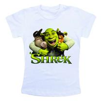 Camiseta Infantil Personalizada - Shrek Desenho Animado