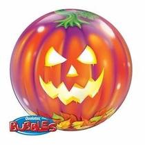 Halloween Globo Burbuja Latex 22 Dia De Muertos Paq. 3 Piez