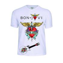 Camisas Camisetas Bon Jovi Banda T-shirt Rock Conjunto Pop