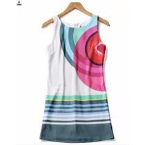 Vestido De Verano Con Estampado Rainbow De Marca Desigual