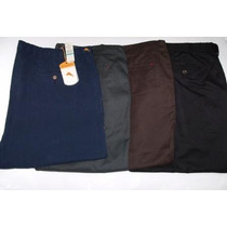 Pantalones Tallas Grandes 38,40,42,44,46 En Tela Drill Lindo