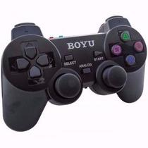 Controle Joypad Dual Shock Sem Fio Ps1 Ps2 Boyu - Leilão