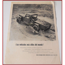 Dante42 Publicidad Antigua Retro Jeep Willys-overland 1955