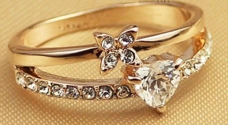 Anillo de compromiso ba o oro rosa 18k crystals con estuche s 100 00 en mercado libre - Anillos de compromiso sencillos ...