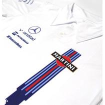 Camisa Polo Dry Fit - Estampa Williams Martini F1 - Es142-a