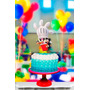 Topper Para Torta Y Cupcake Kit Cumpleanos Mickey Mouse Club