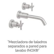 Mezcladora Taladros Separados A Pared Lavabo Urrea 9709 Inox