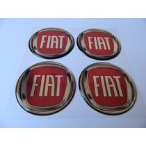 Adesivo Resinado De Calota Fiat Vermelho
