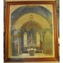 Boceto En Acuarela Original Arquitectura Iglesia Año 1909