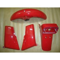 Kit Plasticos Cg 125 86/87/88 Vermelha Paralamas E Laterais