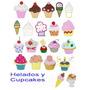 Diseños Matrices Para Máquina De Bordar Helados Y Cupcakes