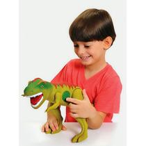 Boneco Dinossauro Tirano Rex Com Som - Adijomar Brinquedos