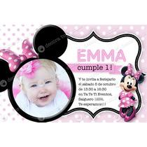 Kit Imprimible Minnie Disney Invitación Cumpleaños Candybar