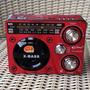Rádio Portátil Fm Am Sw Mp3 Usb Sd Lanterna Led Recarregável