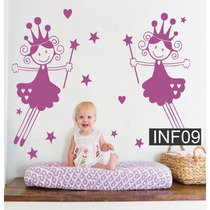 Vinilos Decorativos Infantiles Princesa Hada Para Bebe Nena