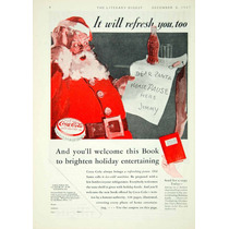 Lienzo Tela Anuncio Publicidad Coca Cola 1932 65 X 50 Cm