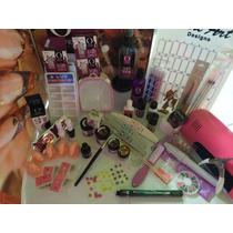 Kit Completo Lampara Finish Gel Accesorios Organic Nails