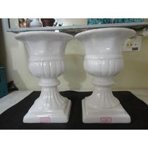 #11860 - Par Vasos Romanos Porcelana Esmaltada!!!