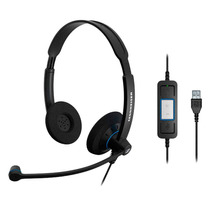 Headset Profissional C/ 2 Conchas, Microfone, Controle E Usb