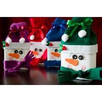 Dulceros Navideños Muñeco De Nieve Santa Claus