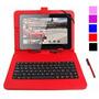Funda + Teclado Para Tablet 7 Con Micro Usb Varios Colores