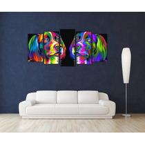 Perro Pop Art Full Color Tela Canvas Bastidor De 160x80 Cm