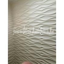 Forma De Silicone P/ Placa Gesso Cimento Mod Ondas Do Rj