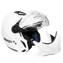 Capacete Moto Peels Mirage C/óculos Fumê Branco / Preto Rosa