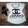 Camiseta Feminina Blusa T-shirt - Aplicação Pedras