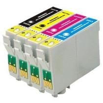 Kit 4 Cartuchos Para Epson Tx125 T25 C75 Tx123 135 133 Novos