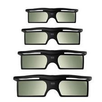 4 Óculos 3d Dlp Ativos Projetores Optoma Benq Acer Vivitek