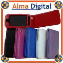 Estuche Cuero Iphone 3g Forro Protector Negro Rosado Blanco