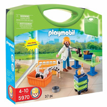 Playmobil 5970 Maletin Veterinaria Clinica Ciudad Retromex!!