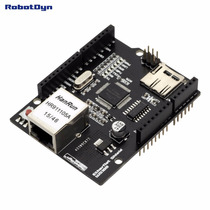 Ethernet Shield P/ Arduino Pic Avr - Black Edition + Slot Sd